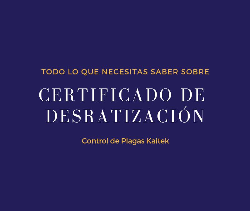 ¿Como obtener el certificado de desratización para demolición?